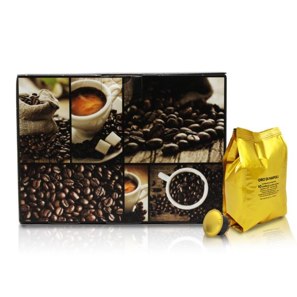 Oro di Napoli - Intensità 10 -compatibile Caffitaly®* - Caffea -