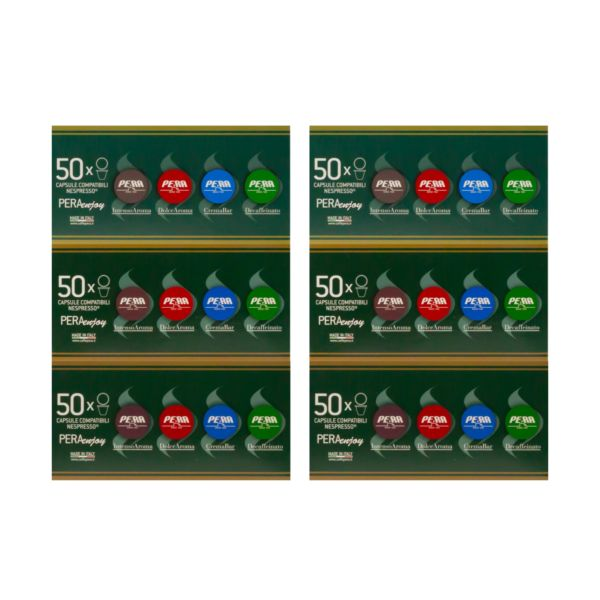 MIX Intenso-Dolce Aroma-Cremabar - Nespresso®- 300 Capsule